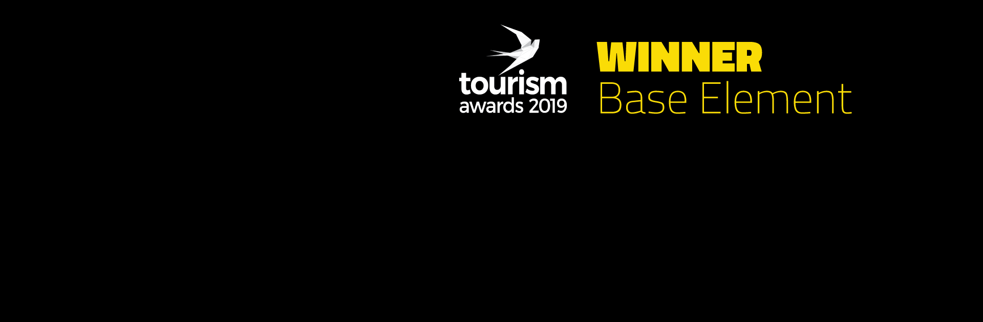 Base Element Wins Significant Distinction at Tourism Awards 2019